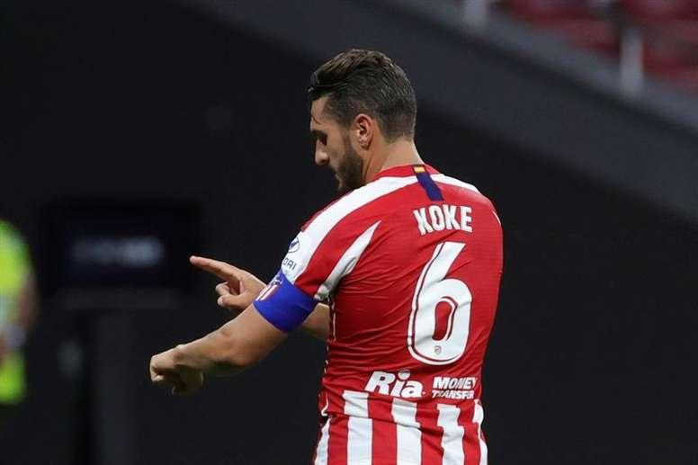 Koke vio la quinta amarilla y no estará ante el Eibar. EFE