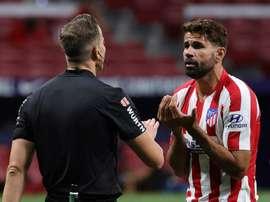 Diego Costa não entrará em campo devido ao acúmulo de cartões amarelos. EFE/JuanJo Martín.