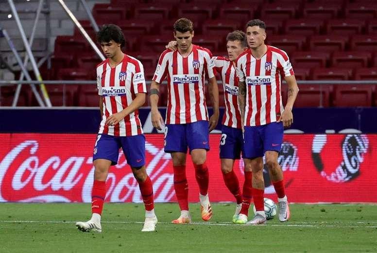 Morata explicó su gol de 'doble penalti'. EFE