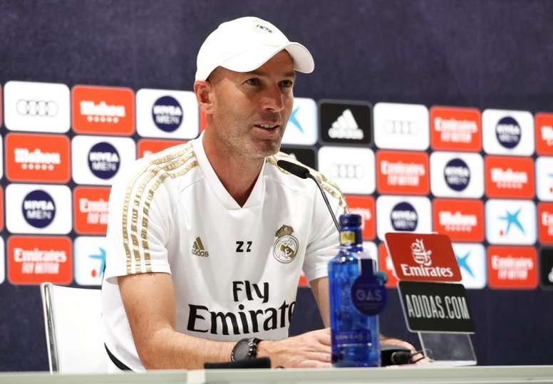 Zidane spoke about Real Madrid's recent string of wins. EFE/ Realmadrid.com