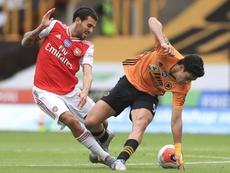 Los Wolves no pudieron contar con los goles de Raúl Jiménez. EFE/EPA
