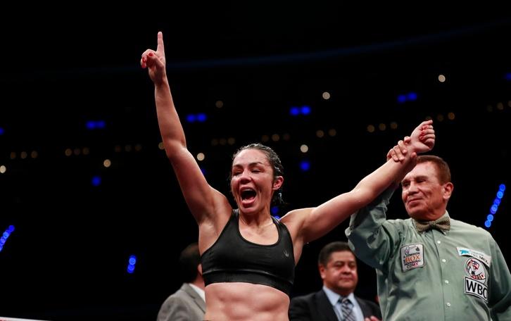 En la imagen la boxeadora argentina Marcela LaTigresa Acuña. EFE/Yamila Lomba/Archivo