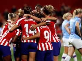 El Atleti regresa para la Champions Femenina. EFE