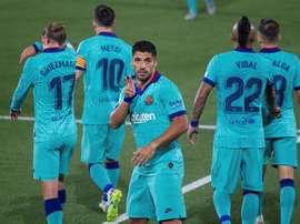 Confira a lista de convocados pelo Barça contra o Espanyol. EFE / Domenec Castelló.