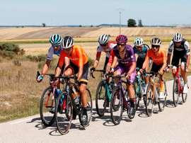Imagen de una etapa de la Vuelta a Burgos el año pasado. EFE/ Santi Otero/Archivo