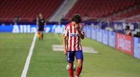 João Félix tem edema ósseo e não enfrentará o Celta em Vigo. EFE/JuanJo Martín