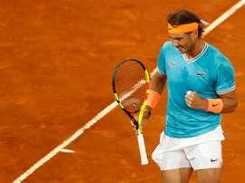 El tenista español Rafael Nadal durante la semifinal del Mutua Madrid Open de Tenis el año pasado. EFE/JAVIER LIZÓN/Archivo