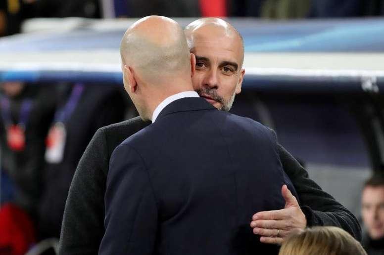 Guardiola veut jouer la Ligue des champions. EFE