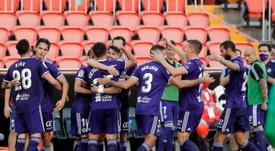 Sekou y Toni Villa lideraron la victoria del Valladolid. EFE