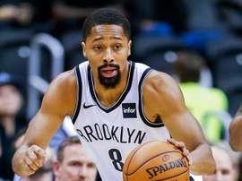 El jugador de los Nets de Brooklyn Spencer Dinwiddie. EFE/EPA/ERIK S. LESSER/Archivo