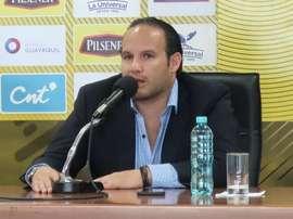 Egas es el presidente de la Federación Ecuatoriana para la FIFA y la CONMEBOL. EFE