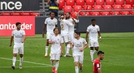 Real Madrid pode abrir quatro pontos de vantagem na liderança. EFE/Luis Tejido