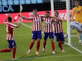 El Atlético necesita tres puntos más para conseguir el objetivo. EFE