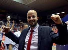El entrenador Eric Surís. EFE/David Borrat/Archivo