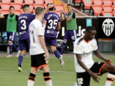 El Valladolid no pudo superar al Valencia en Liga. EFE
