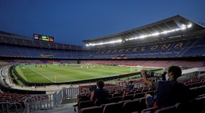 Barcelona busca patrocinador para dar nome ao Camp Nou. EFE/Alberto Estévez