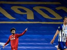Doblete de Salah y victoria. EFE