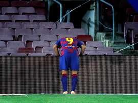 Luis Suárez marcó el único gol del Barça. EFE