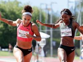Jodie Williams (i) y Bianca Williams (d) en una competición. EFE/EPA/SALVATORE DI NOLFI/Archivo