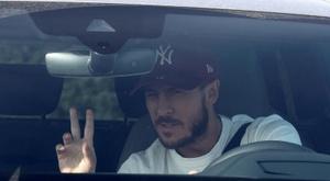 Eden Hazard voltará a campo contra o Alavés. EFE/ Chema Moya/Arquivo