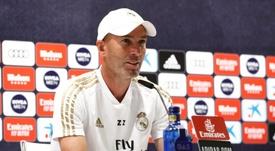 Zidane spoke about Real Madrid's winning status. EFE