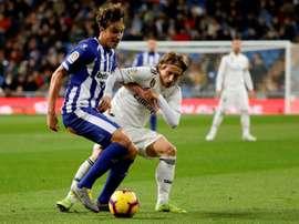 Les compos probables du match de Liga entre le Real Madrid et Alavés. EFE