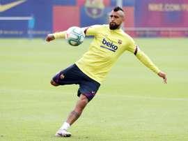 Vidal et son avenir au Camp Nou. efe