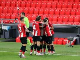El Athletic tuvo sesión de recuperación. EFE
