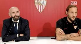 Monchi valoró el camino en la Europa League. EFE