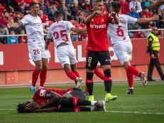 El Sevilla busca plaza en la Champions; el Mallorca, la salvación. EFE