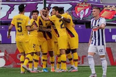 Barcelona jogou mal e quase deixa escapar os três pontos. EFE/R. García