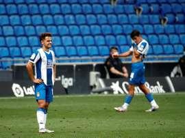 Los 'pericos' descendieron como colistas a Segunda División. EFE
