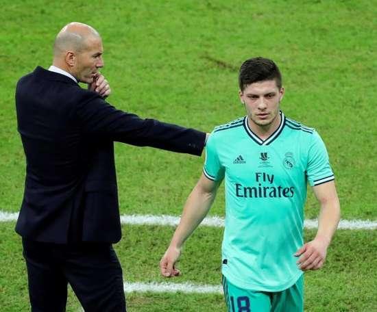 Luka Jovic estará novamente à disposição para Zinedine Zidane. EFE/ Juanjo Martín/Arquivo