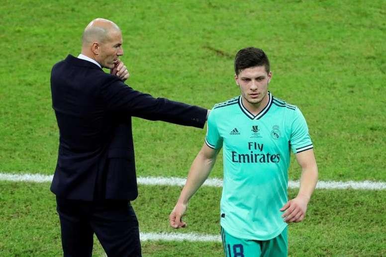 Zidane ha dado luz verde a la cesión de Jovic, que apunta a Italia. EFE