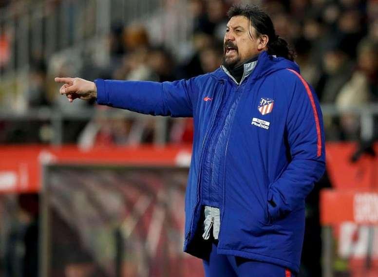 El argentino se despidió del Atlético tras casi una década junto al Cholo. EFE