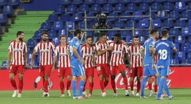 El Atlético se sometió a las pruebas del COVID-19. EFE