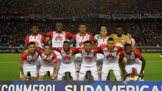 La nueva liga no entra en los planes de Independiente Santa Fe. EFE/Ricardo Maldonado Rozo