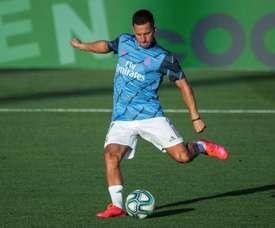 Confira como foi o último treino do Real Madrid. EFE/Rodrigo Jiménez
