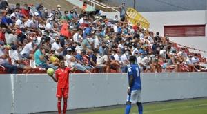 Así se vivió el primer partido con público en España. EFE/Gelmert Finol