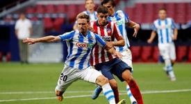 Atlético y Real Sociedad empataron en el Metropolitano. EFE/Chema Moya