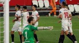 Sevilla derrotou a Roma pela Europa League. EFE/Julio Muñoz