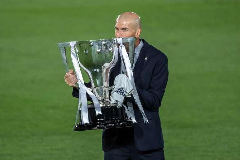 Zidane conquistó la Liga con el Real Madrid. EFE