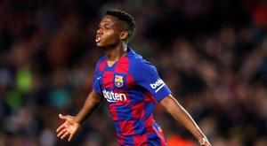 Ansu Fati piace allo United. EFE