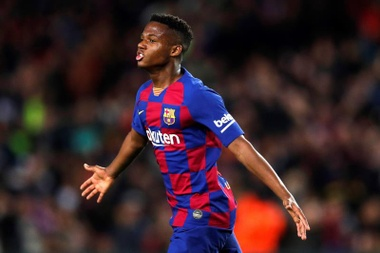 Ansu Fati hizo el primer gol del Barça en LaLiga 20-21. EFE