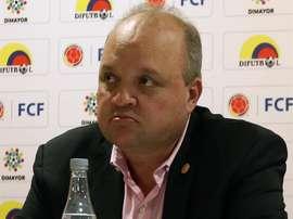 Los clubes acordaron el cese de Vélez como presidente de la Dimayor. EFE/Andrés Moreno/Archivo