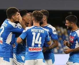 El Nápoles le ganó a la Lazio. EFE