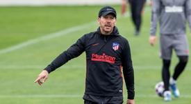 El Atleti regresa al trabajo con Giménez y Hermoso al margen. EFE