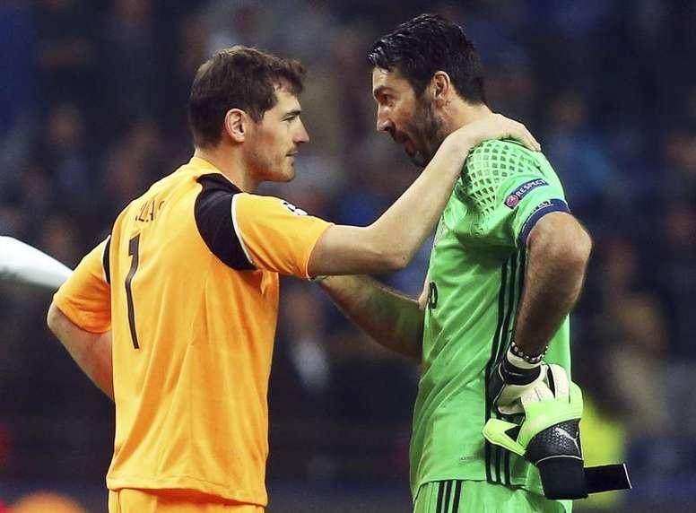 Preciosas palabras de Buffon a Casillas. EFE