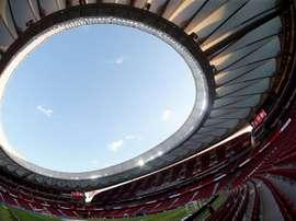 O Atlético enfrentará o RB Leipzig nas quartas de final. EFE/ Mariscal/