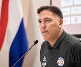 Los 'argentinos' de Paraguay siguen preparando las eliminatorias para Catar. EFE
